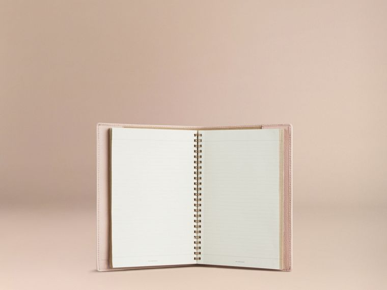Grainy Leather A5 Notebook in Stone | Burberry - cell image 4