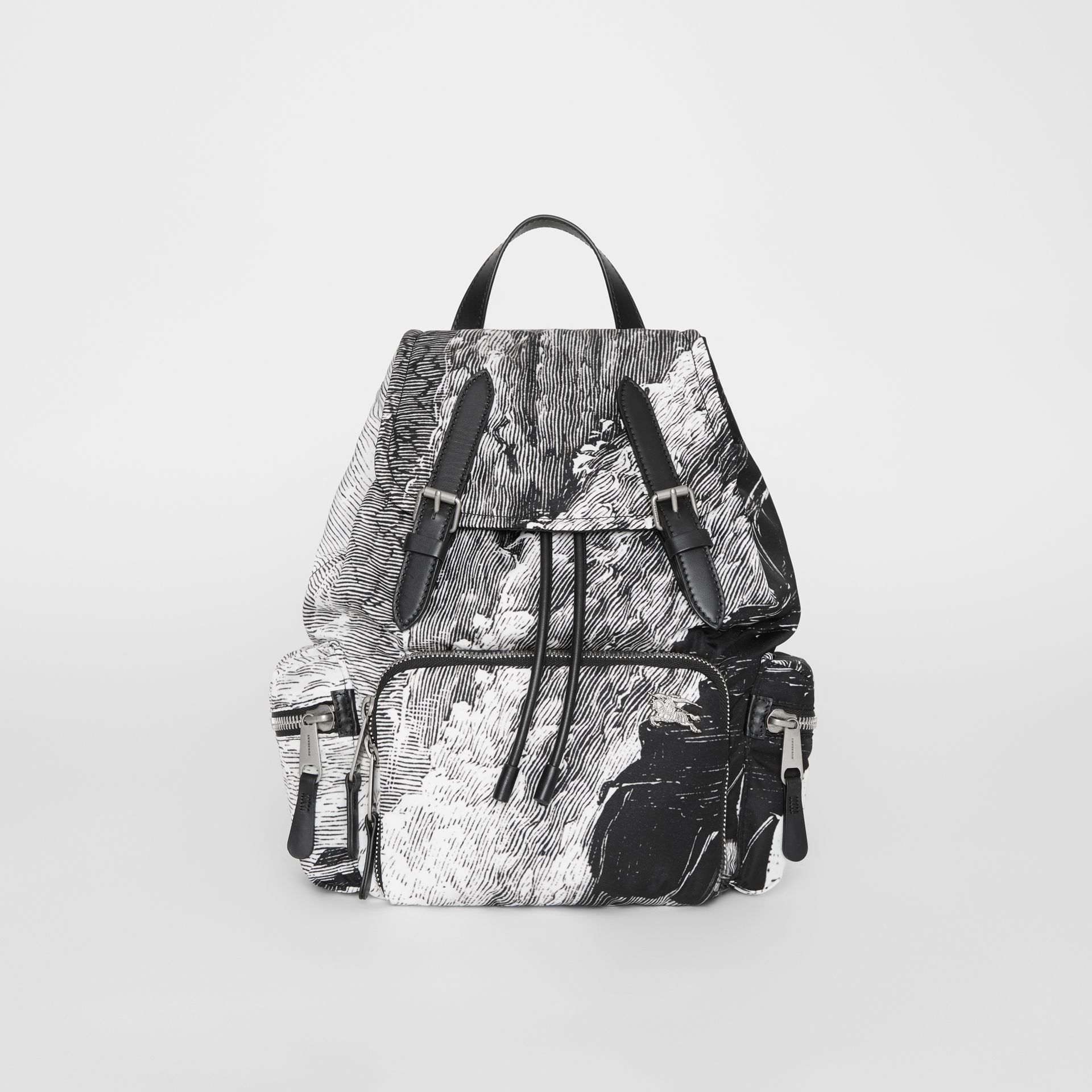 The Medium Rucksack in Dreamscape Print in Black - Women | Burberry United Kingdom - gallery image 0