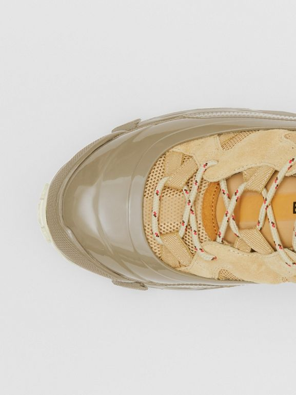 Suede, Mesh and Leather Arthur Sneakers in Beige - Men | Burberry United Kingdom - cell image 1