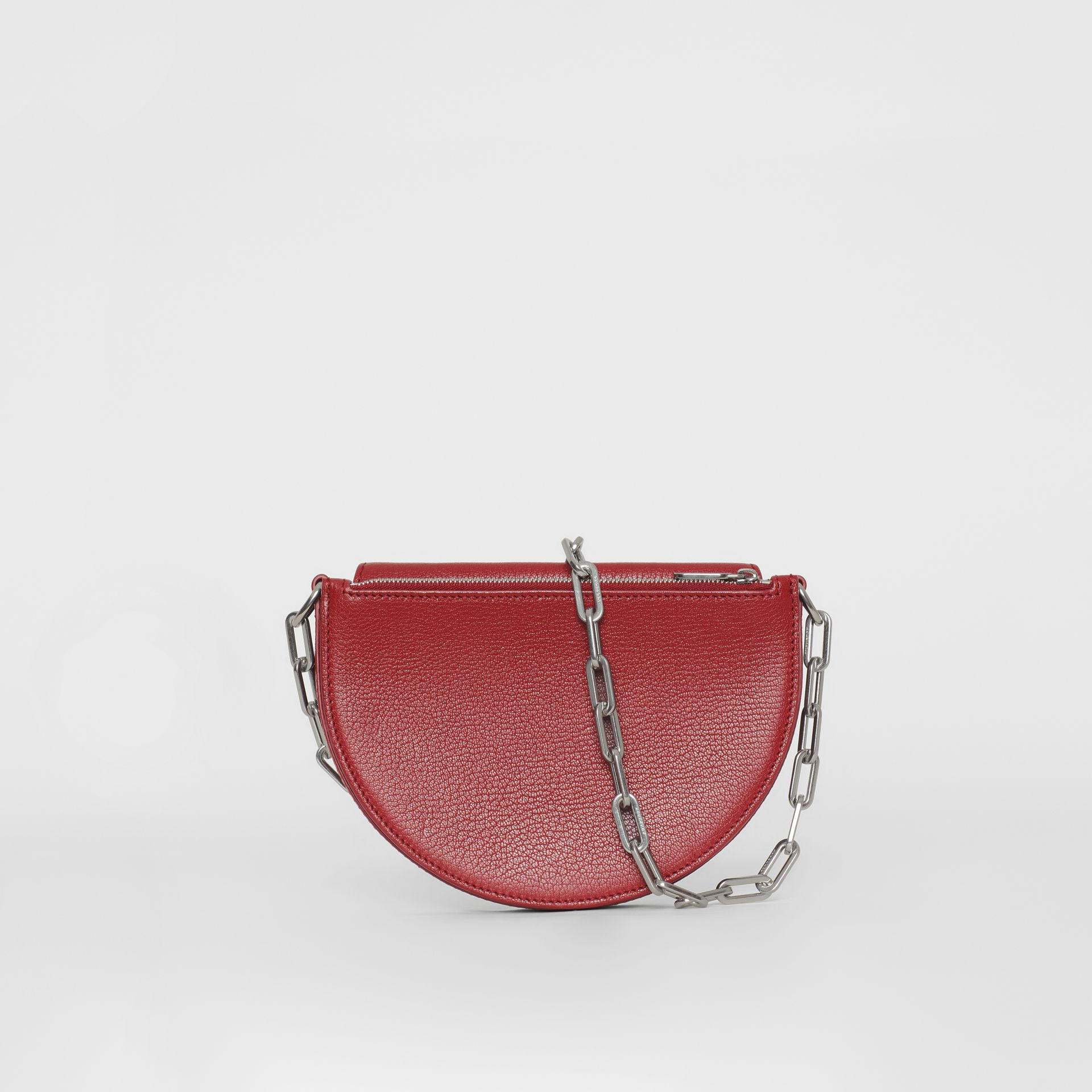 The Small Leather D Bag in Crimson - Women | Burberry - gallery image 7