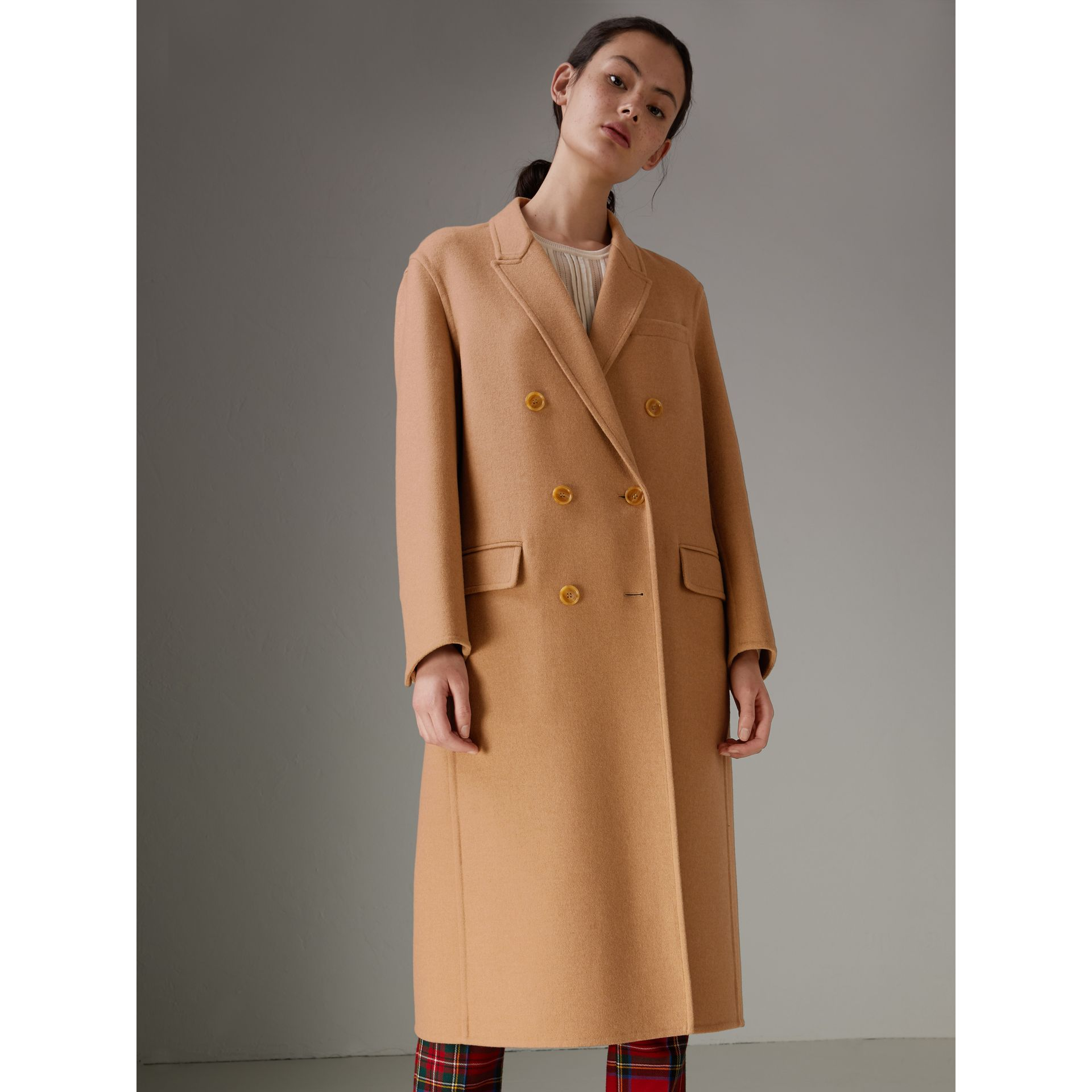 Double Camel Hair Tailored Coat - Women | Burberry Singapore - gallery image 2