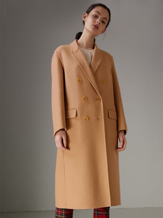 Double Camel Hair Tailored Coat - Women | Burberry Singapore - cell image 2