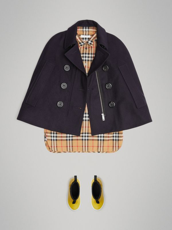 Mantella in stile pea coat in lana (Navy) | Burberry - cell image 2