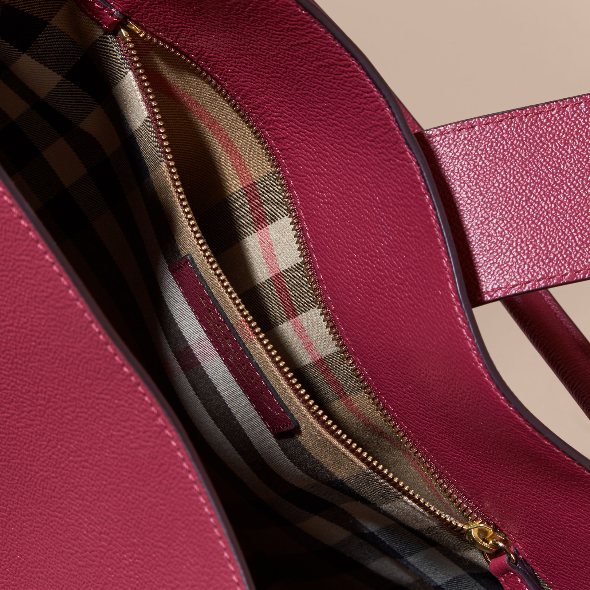 The Large Buckle Tote in Grainy Leather in Dark Plum - Women | Burberry - gallery image 6