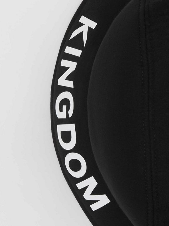 Kingdom Print Neoprene Bucket Hat in Black | Burberry - cell image 1