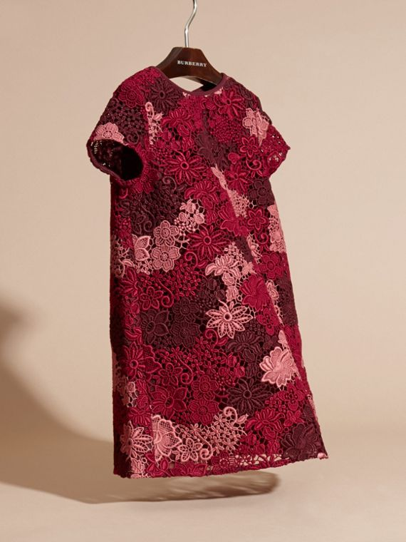 Deep claret Macramé Lace Dress - cell image 2