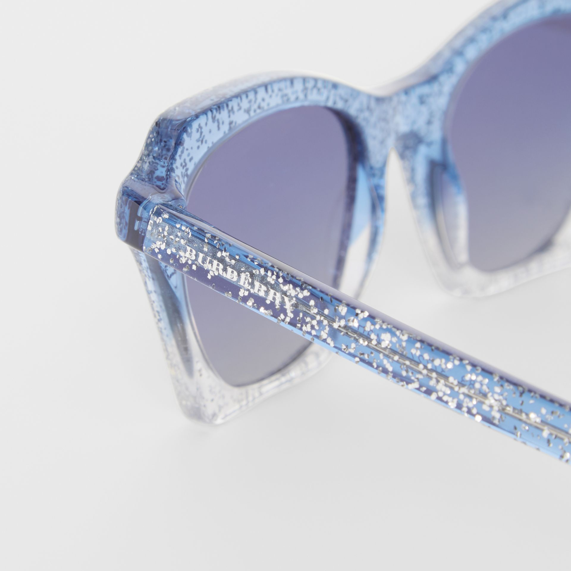 Butterfly Frame Sunglasses in Blue - Women | Burberry Australia - gallery image 1