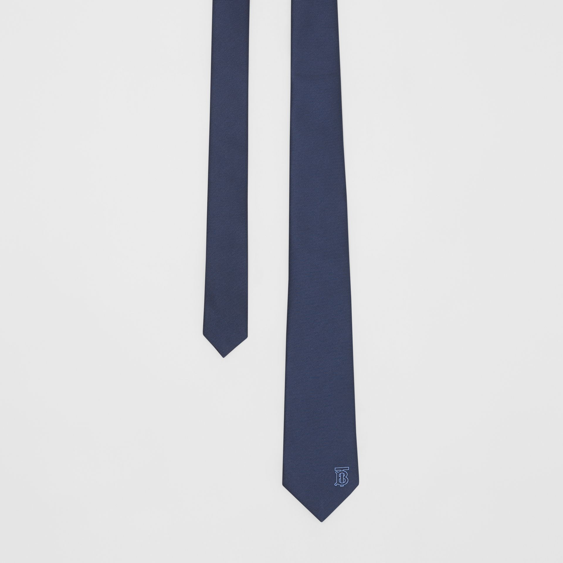 Classic Cut Monogram Motif Silk Tie in Bright Navy - Men | Burberry United Kingdom - gallery image 0