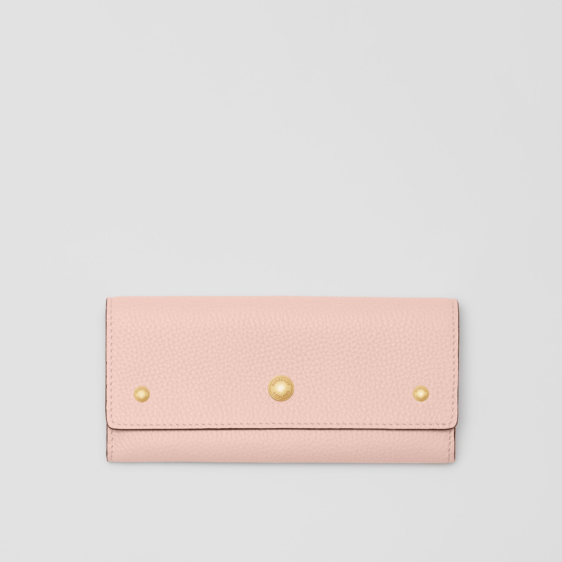 Grainy Leather Continental Wallet in Pale Ash Rose - Women | Burberry - gallery image 0
