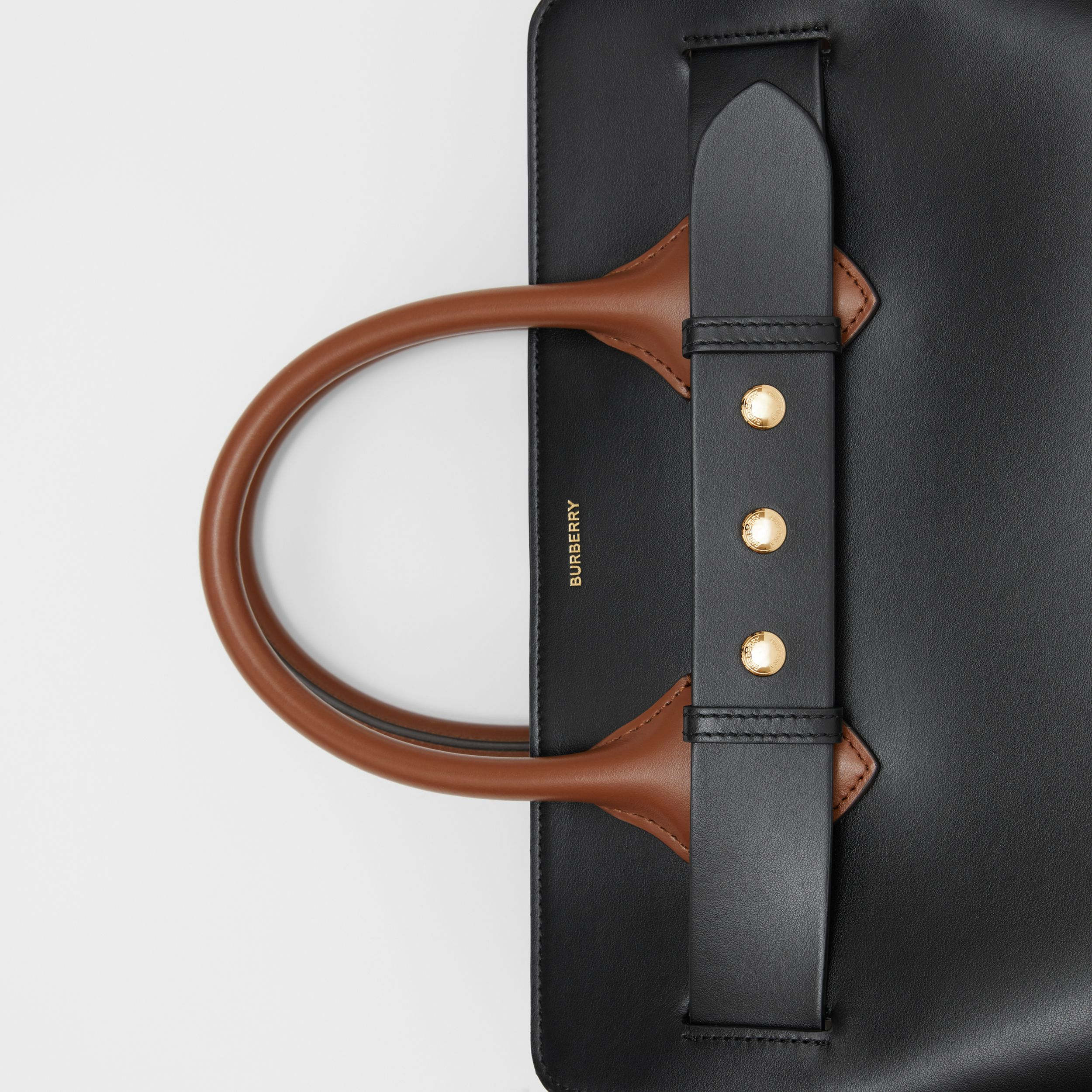 The Small Leather Triple Stud Belt Bag in Black/malt Brown/archive Beige - Women | Burberry - 2