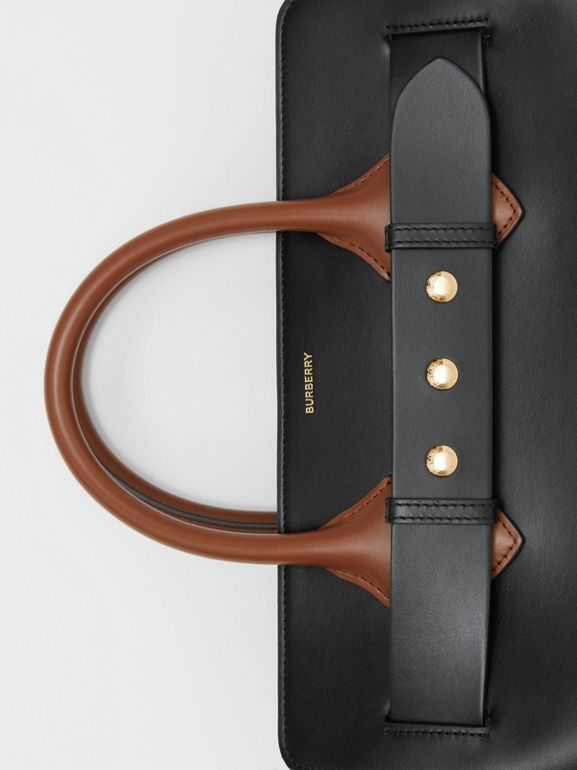 The Small Leather Triple Stud Belt Bag in Black - Women | Burberry - cell image 1