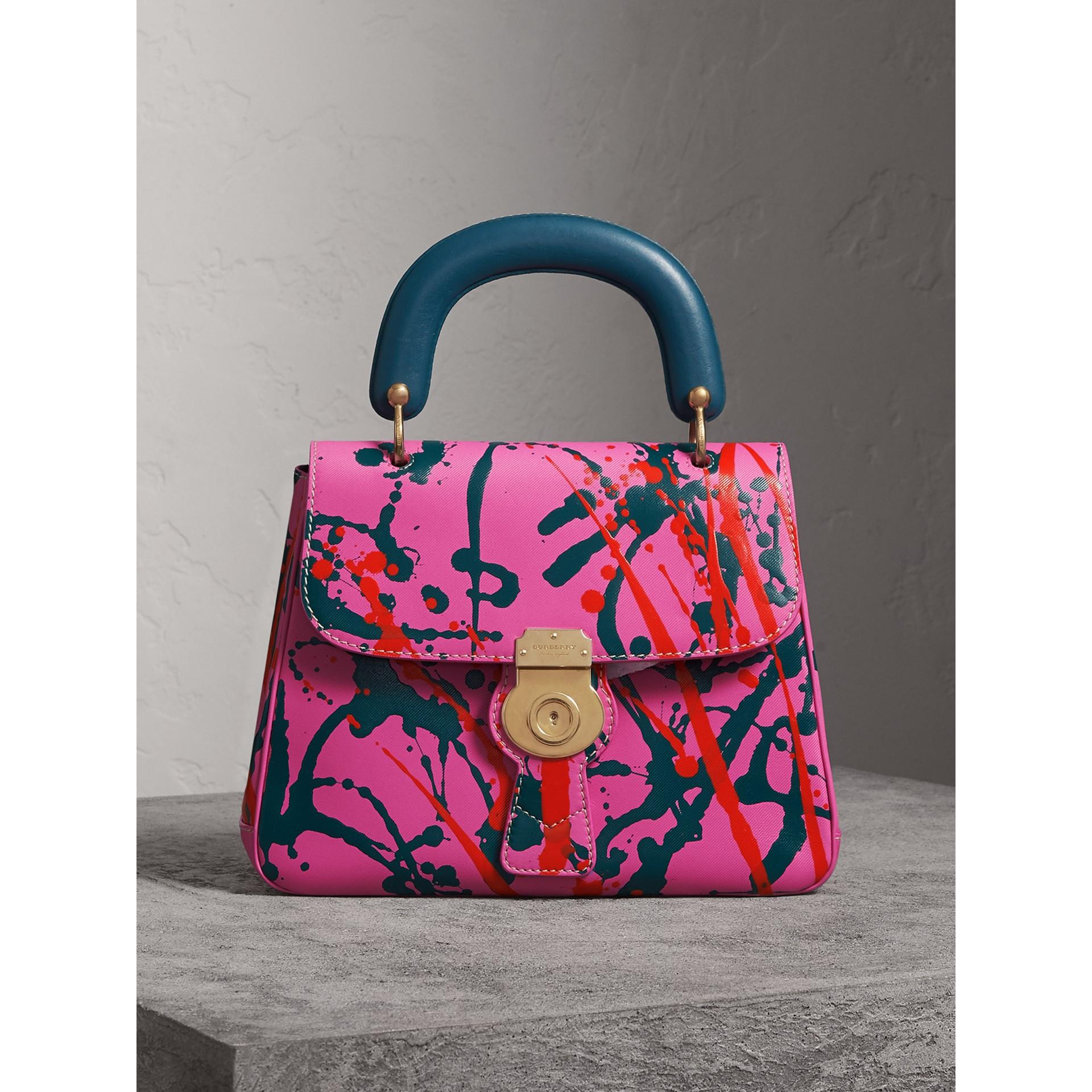 Bolsa de mão DK88 Splash - Média (Rosa Pink) - Mulheres | Burberry - galeria de imagens 1
