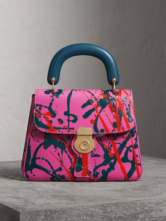 The Medium DK88 Splash Top Handle Bag in Rose Pink