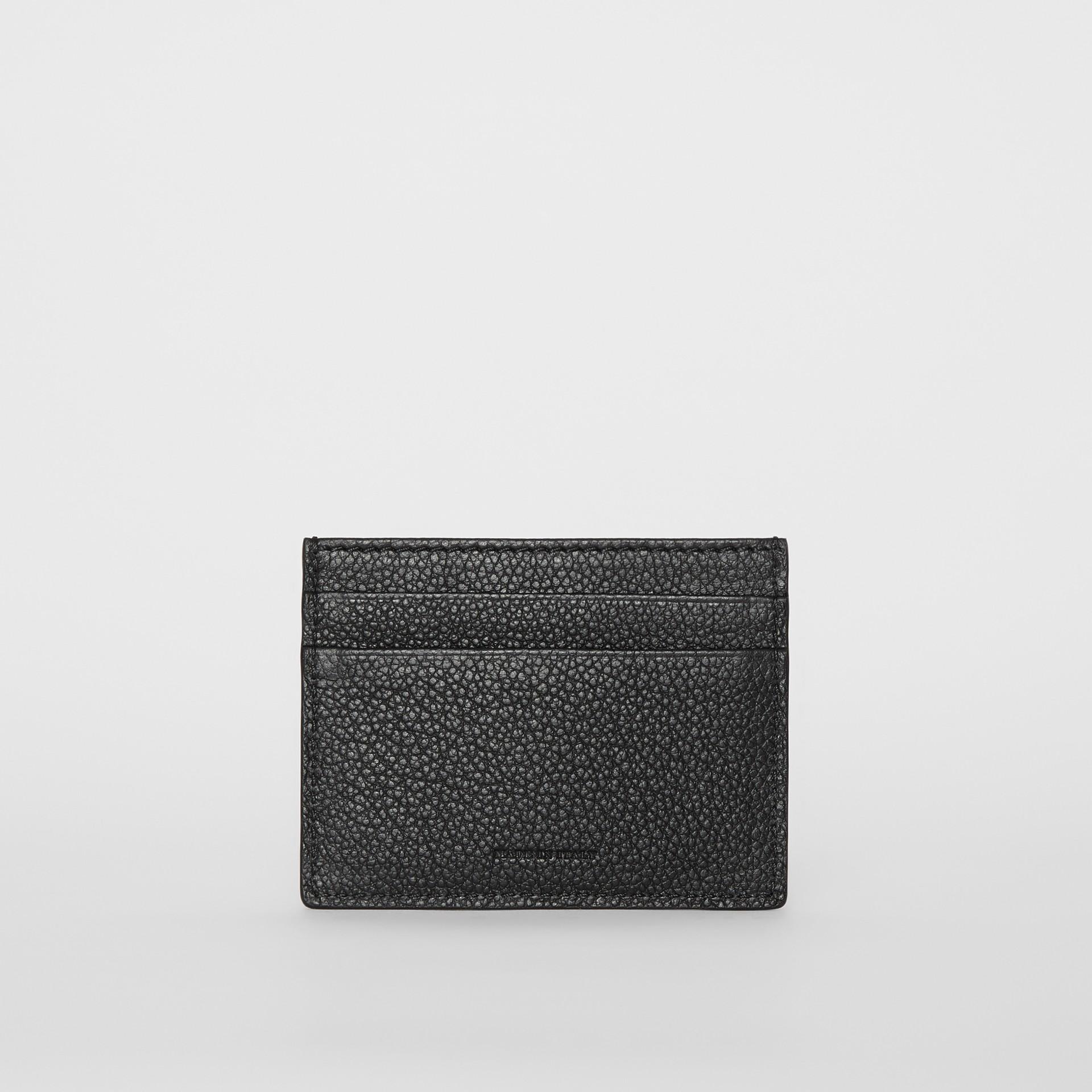 グレイニーレザー カードケース (ブラック) | バーバリー - ギャラリーイメージ 4