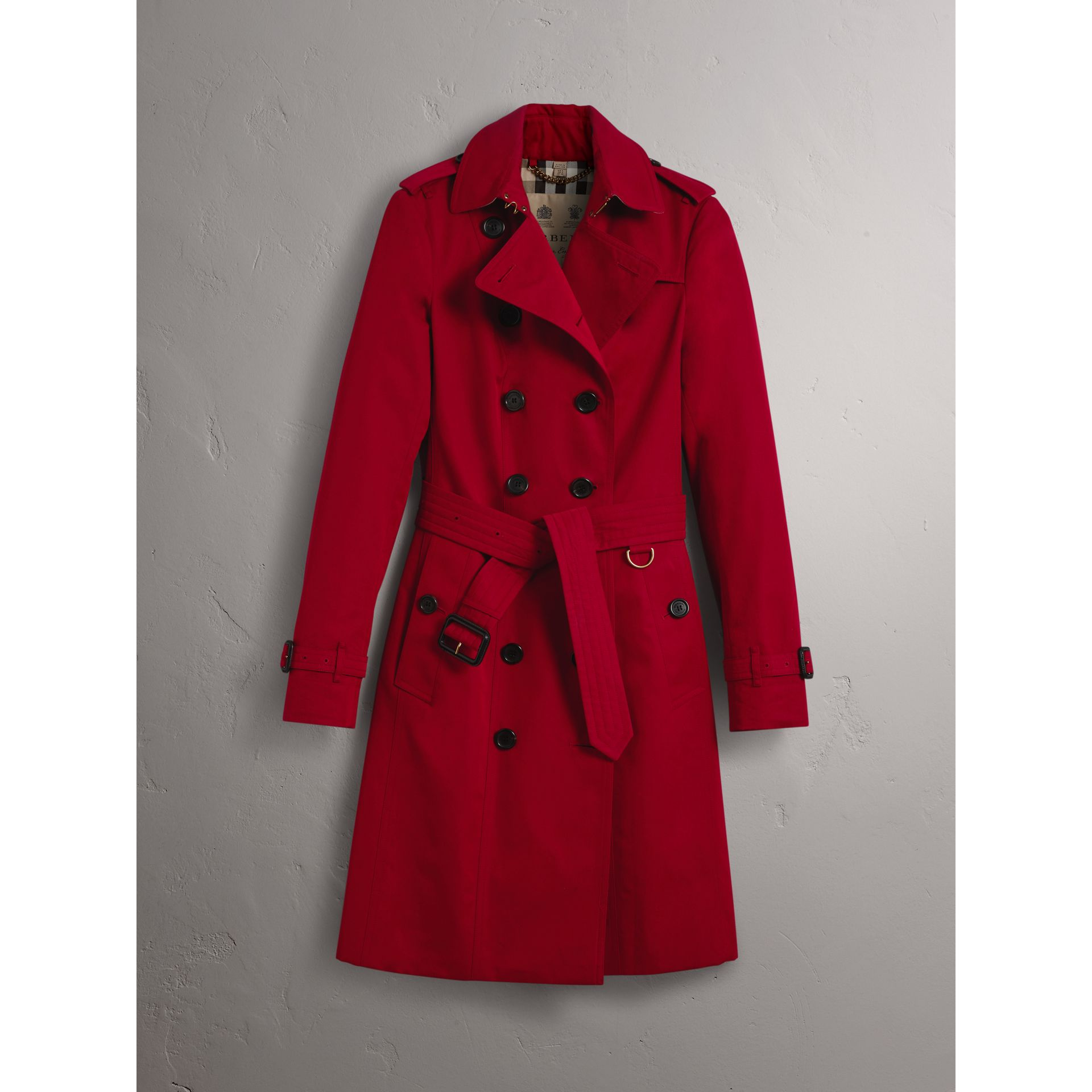 The Sandringham  – Long Trench Coat in Parade Red - Women | Burberry - gallery image 3