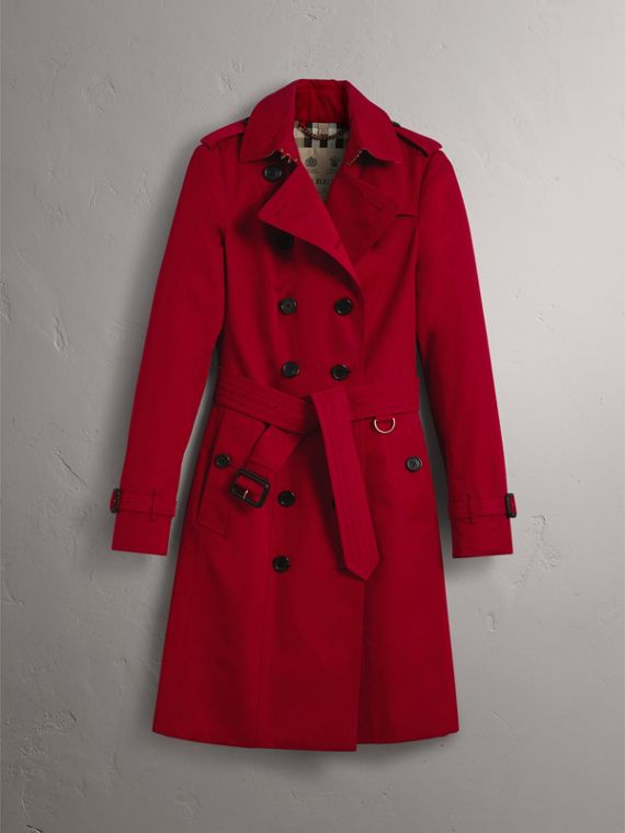 The Sandringham  – Long Trench Coat in Parade Red - Women | Burberry - cell image 2