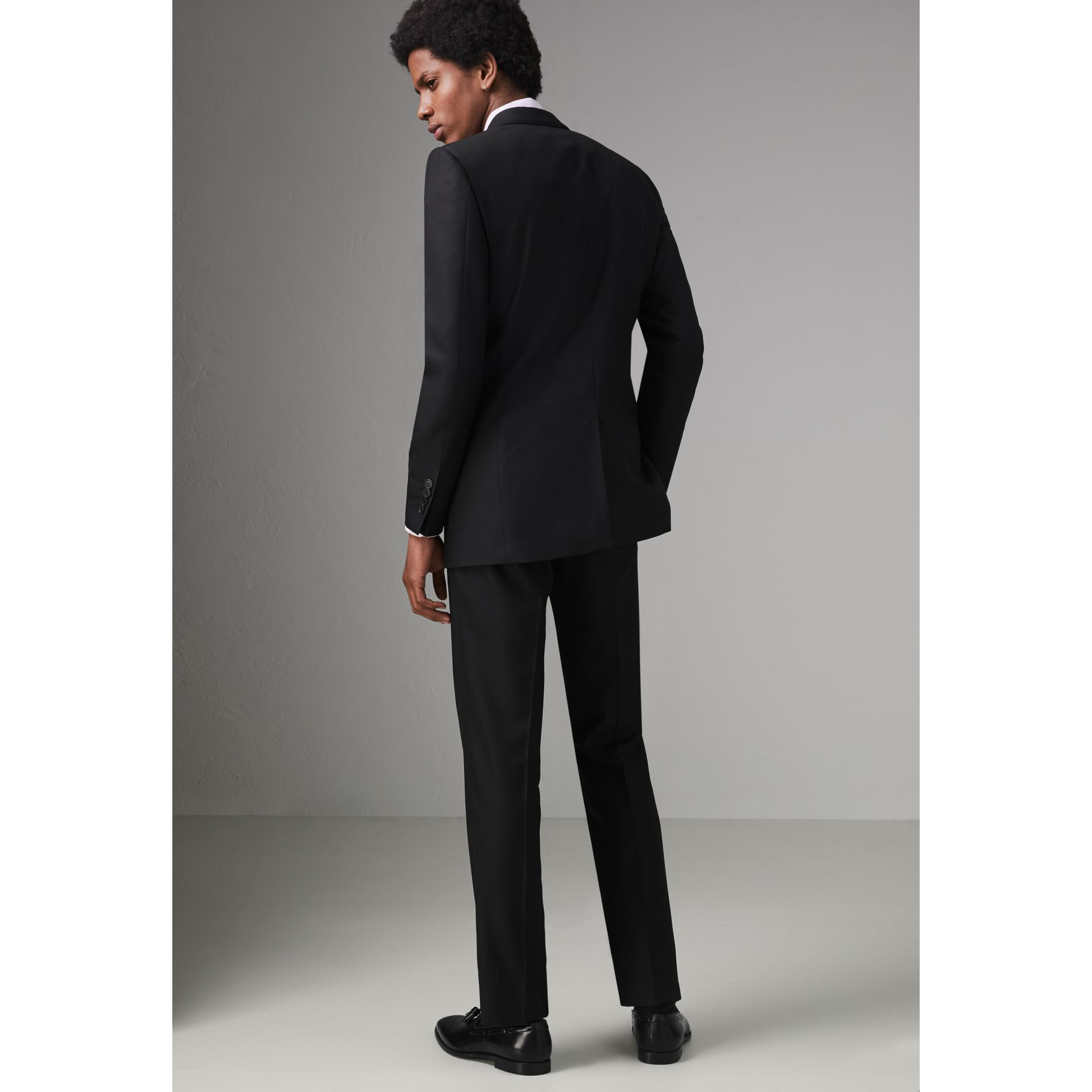 Modern Fit Wool Twill Suit in Black - Men | Burberry Canada - gallery image 2