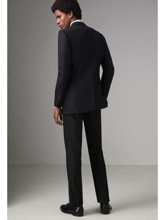Modern Fit Wool Twill Suit in Black - Men | Burberry United States - cell image 2