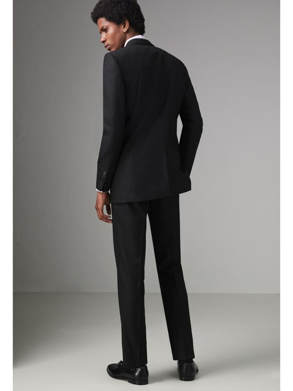 Classic Fit Wool Twill Suit in Black - Men | Burberry - cell image 2