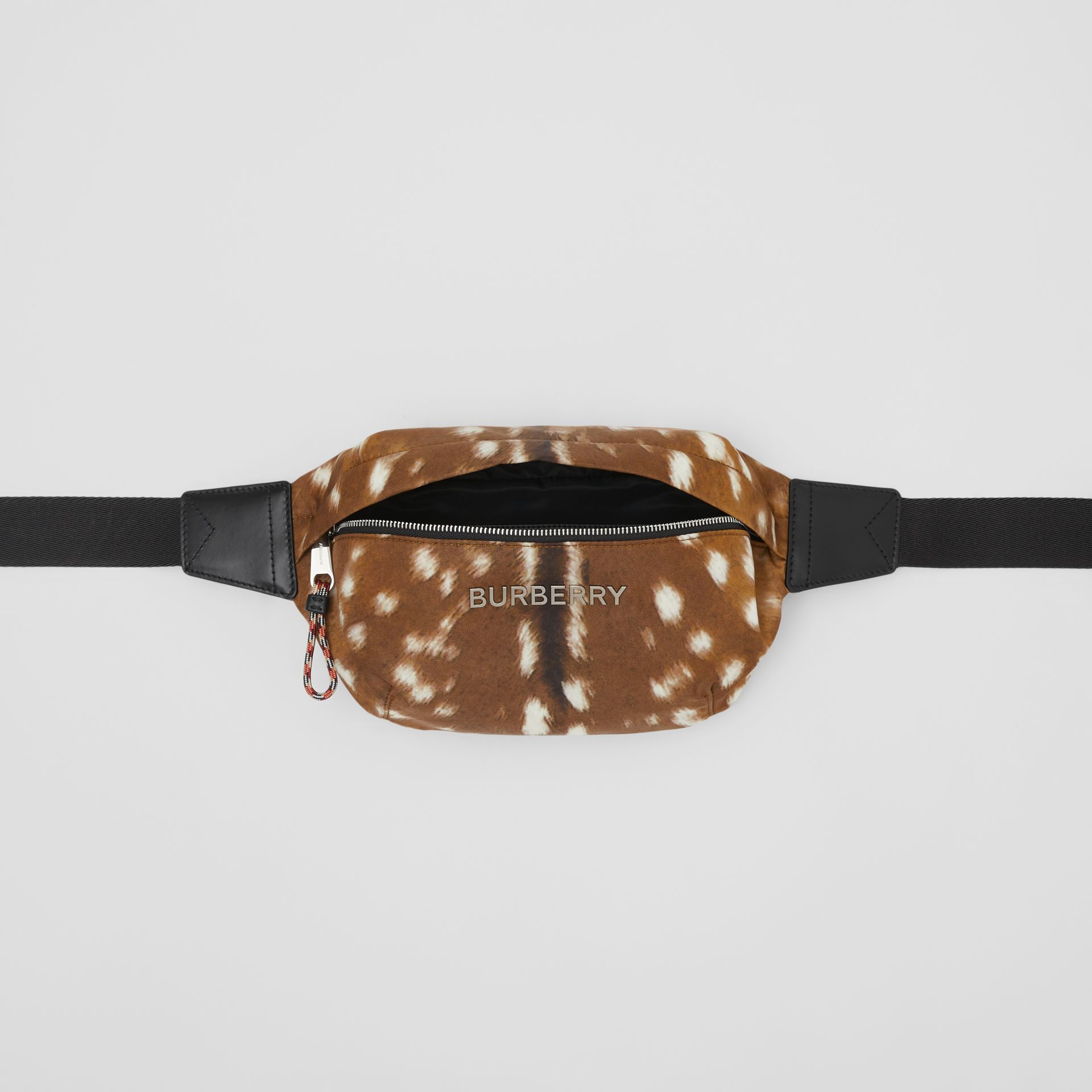 Medium Deer Print Bum Bag in Tan/white | Burberry - gallery image 5