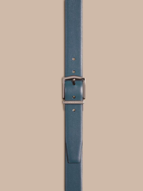 Reversible London Leather Belt in Mineral Blue/black - Men | Burberry - cell image 2
