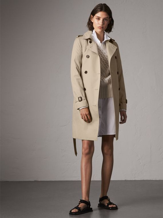 Trench coat Kensington largo (Piedra)
