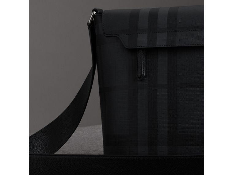 Large Logo Print Messenger Bag in Charcoal - Men | Burberry - cell image 4