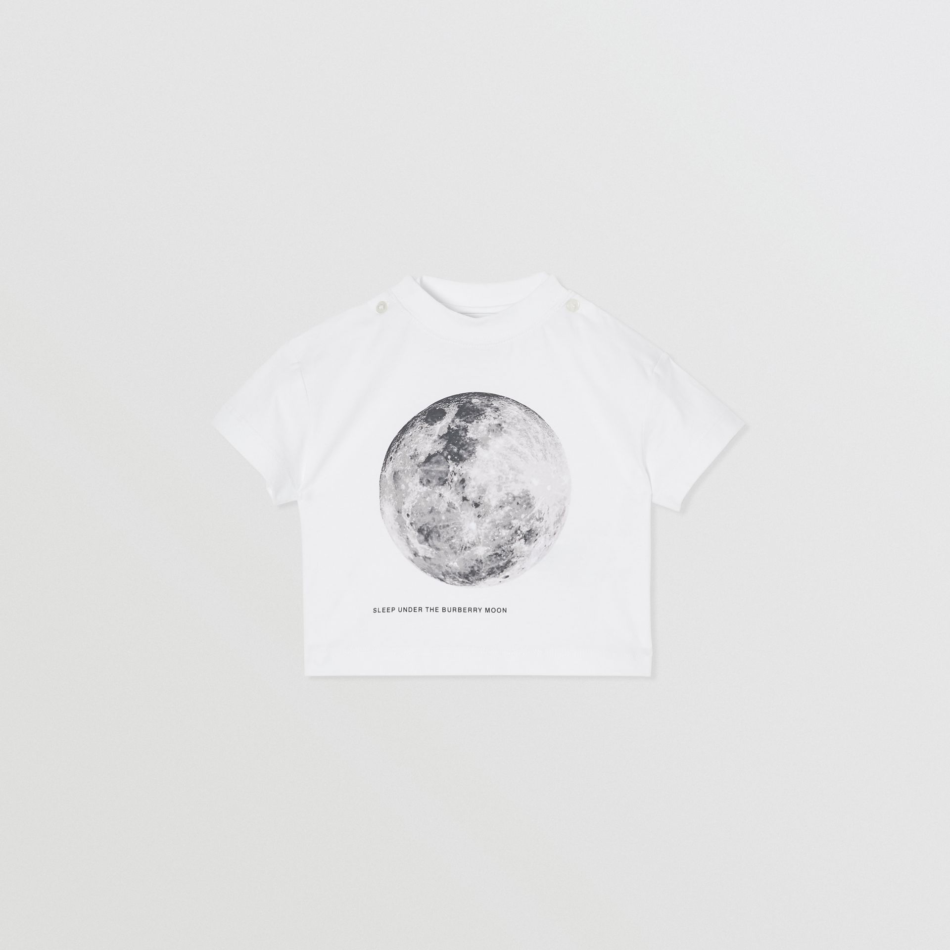 Moon Print Cotton T-shirt in White - Children | Burberry Canada - gallery image 0