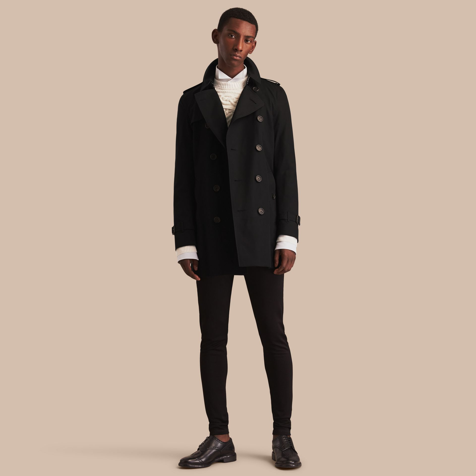 Black The Kensington – Mid-Length Heritage Trench Coat Black - gallery image 1