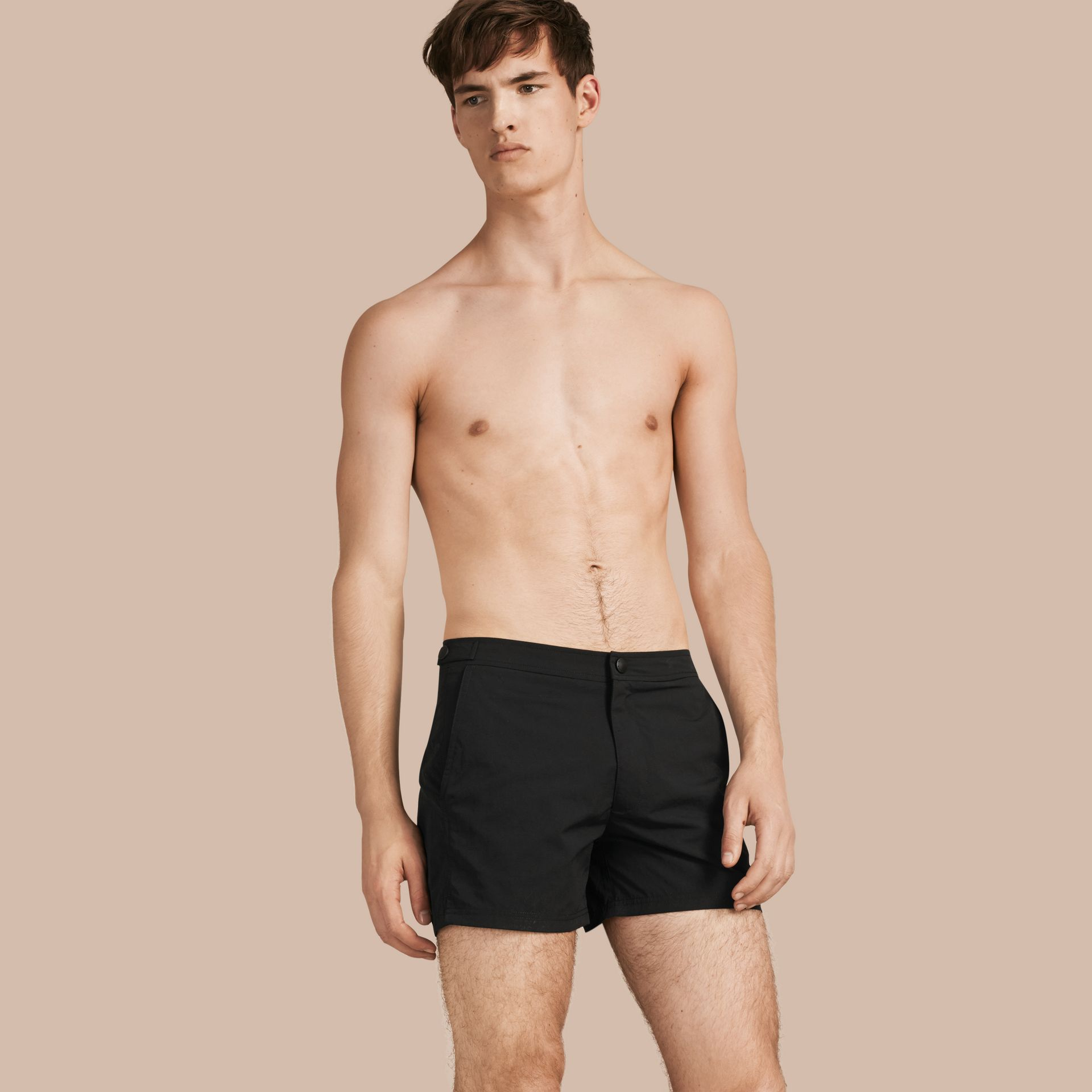 Tailored Swim Shorts in Black - Men | Burberry - gallery image 1