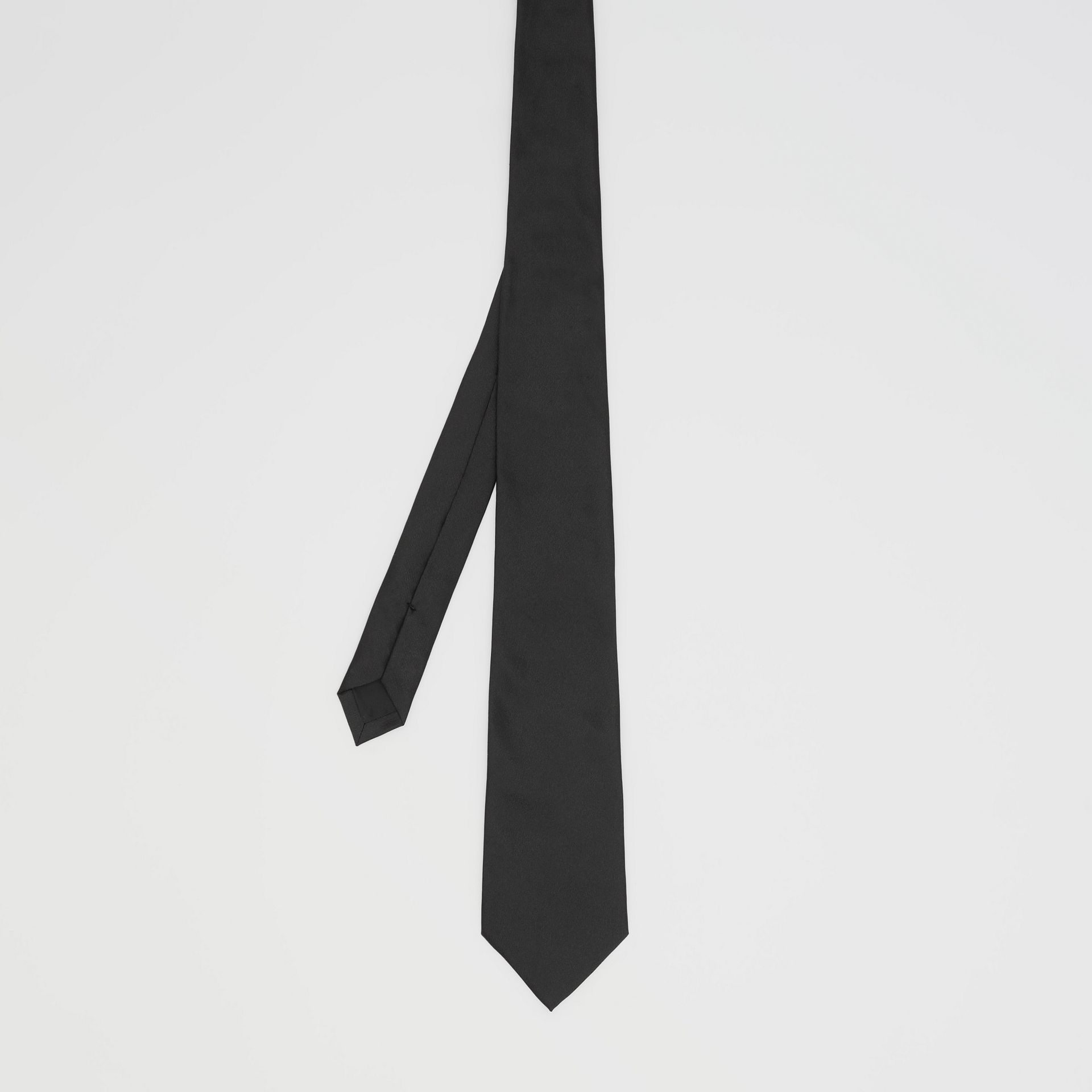 經典剪裁絲質領帶 (黑色) - 男款 | Burberry - 圖庫照片 4