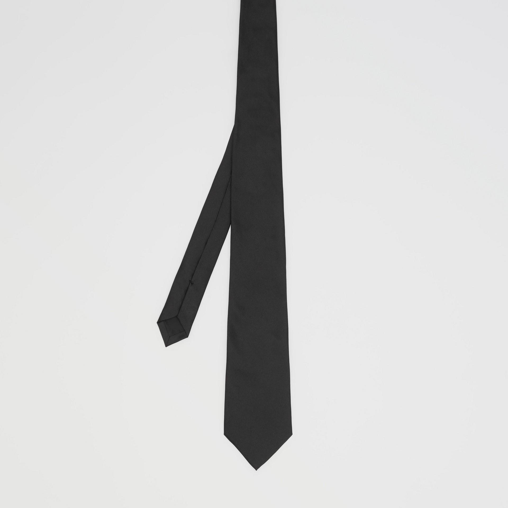 Classic Cut Silk Tie in Black - Men | Burberry Singapore - gallery image 4