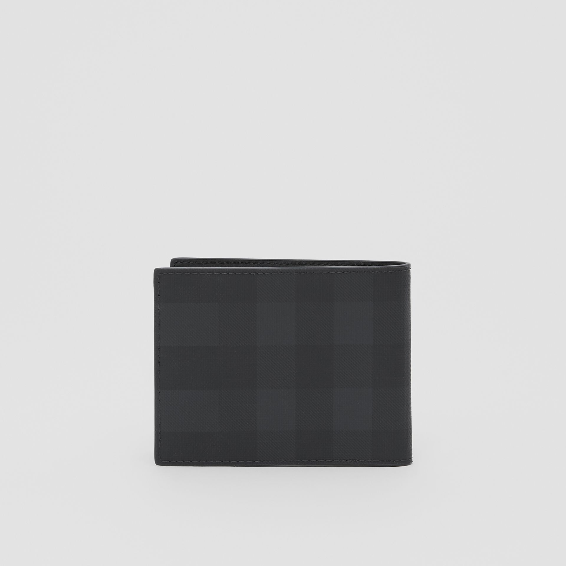 Logo Graphic London Check Bifold Wallet in Dark Charcoal - Men | Burberry - gallery image 4