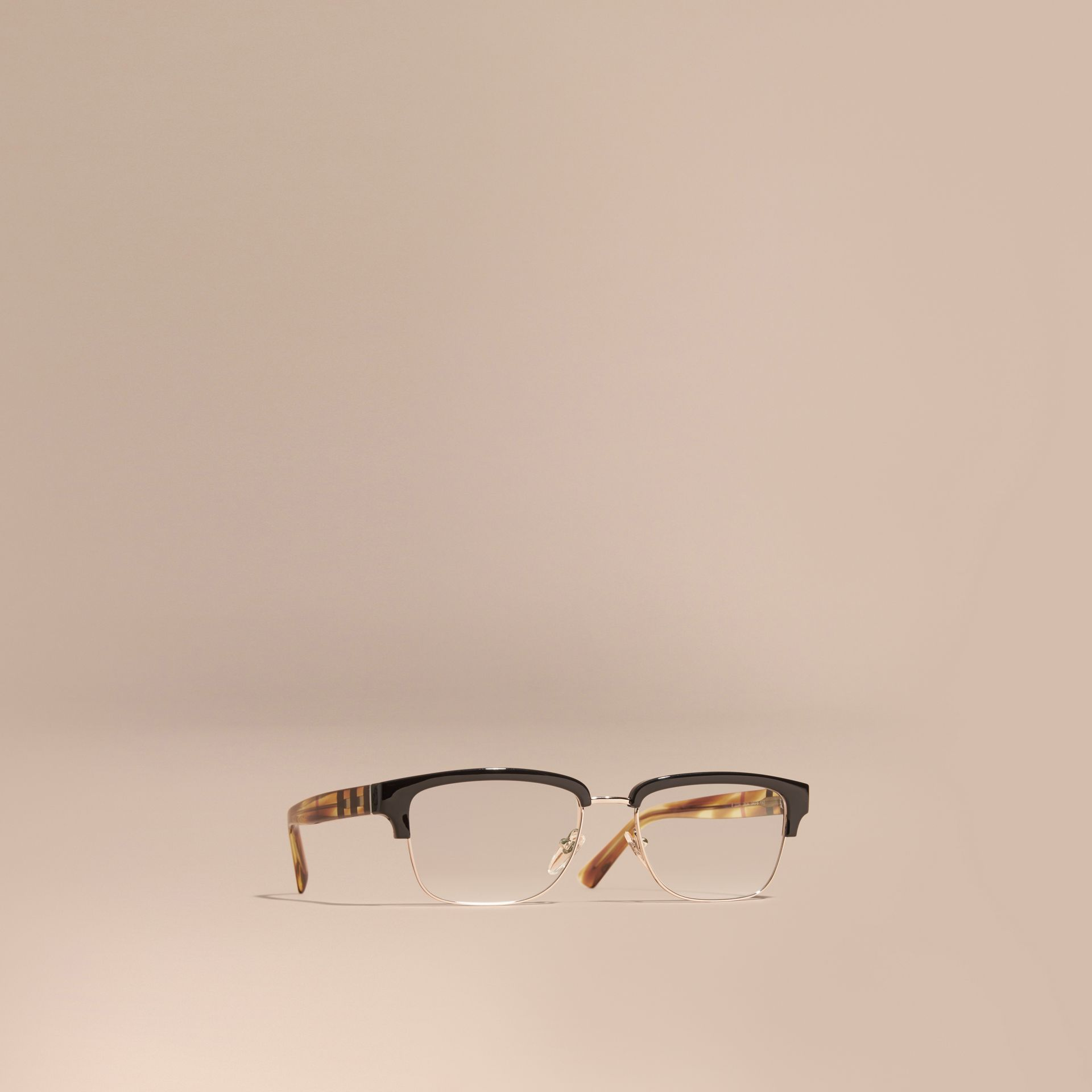 Half-rimmed Oval Optical Frames Black - gallery image 1