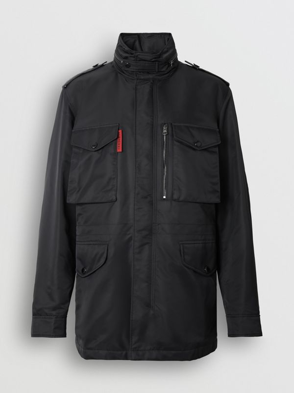 Packaway Hood Padded Field Jacket in Black - Men | Burberry - cell image 3