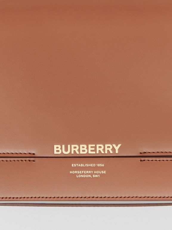 Small Two-tone Leather Grace Bag in Malt Brown/black - Women | Burberry - cell image 1
