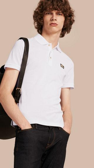 Fitted Mercerised Cotton-Piqué Polo Shirt