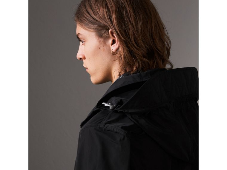 Packaway Hood Showerproof Jacket in Black - Men | Burberry United States - cell image 1