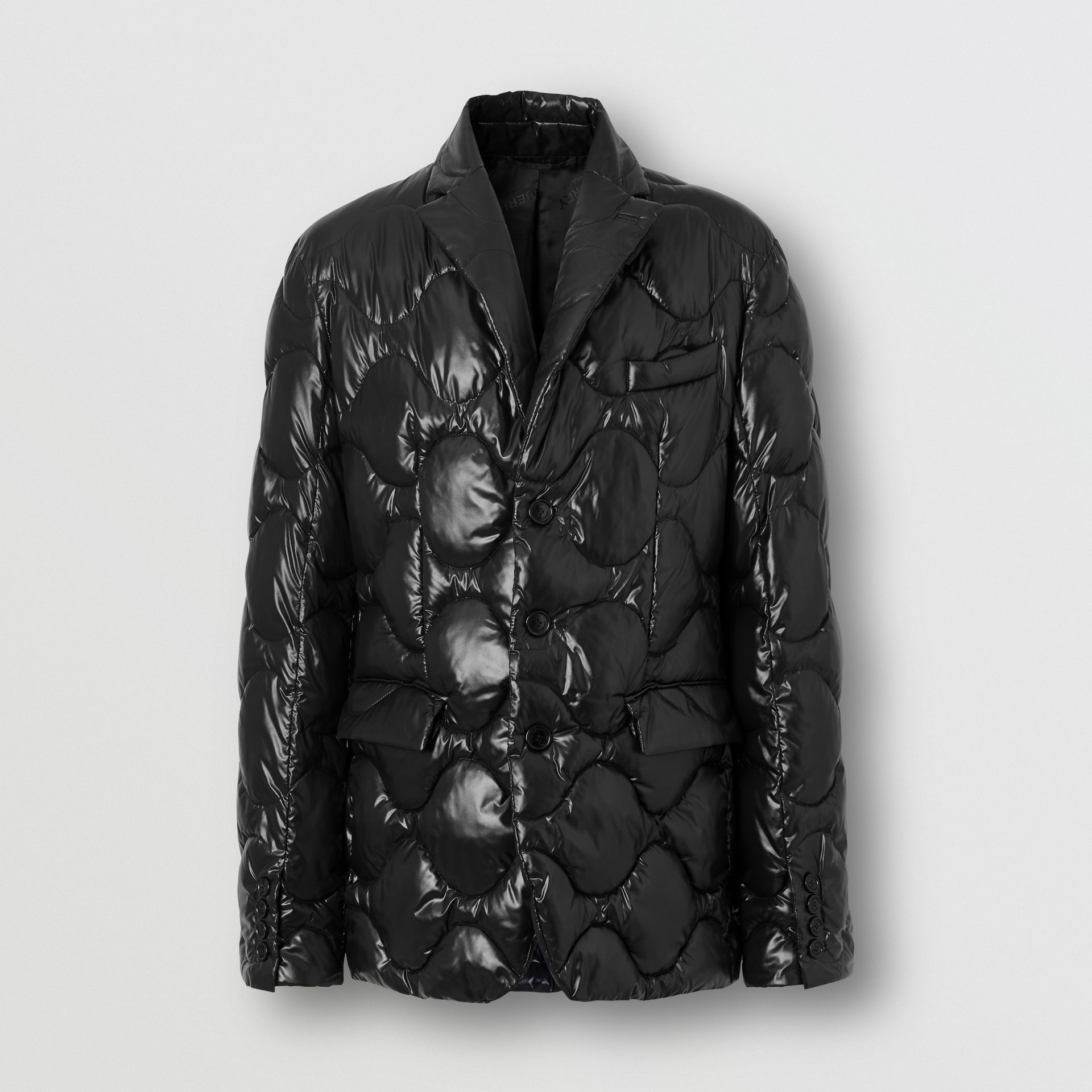 Nylon Puffer Blazer in Black - Men | Burberry - gallery image 3