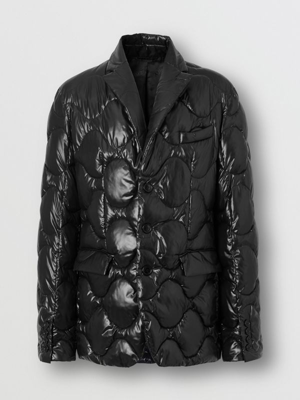 Nylon Puffer Blazer in Black - Men | Burberry - cell image 3