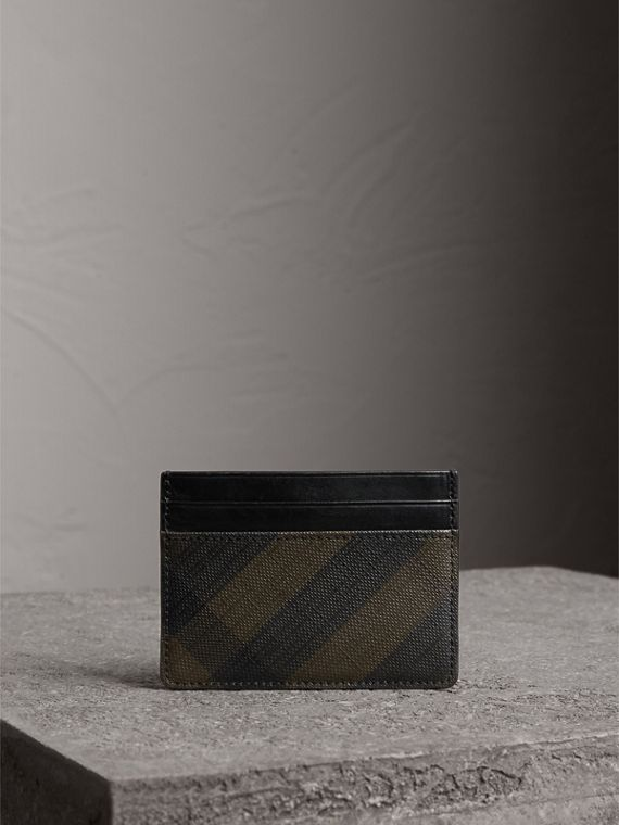 London Check Card Case in Chocolate/black - Men | Burberry - cell image 3