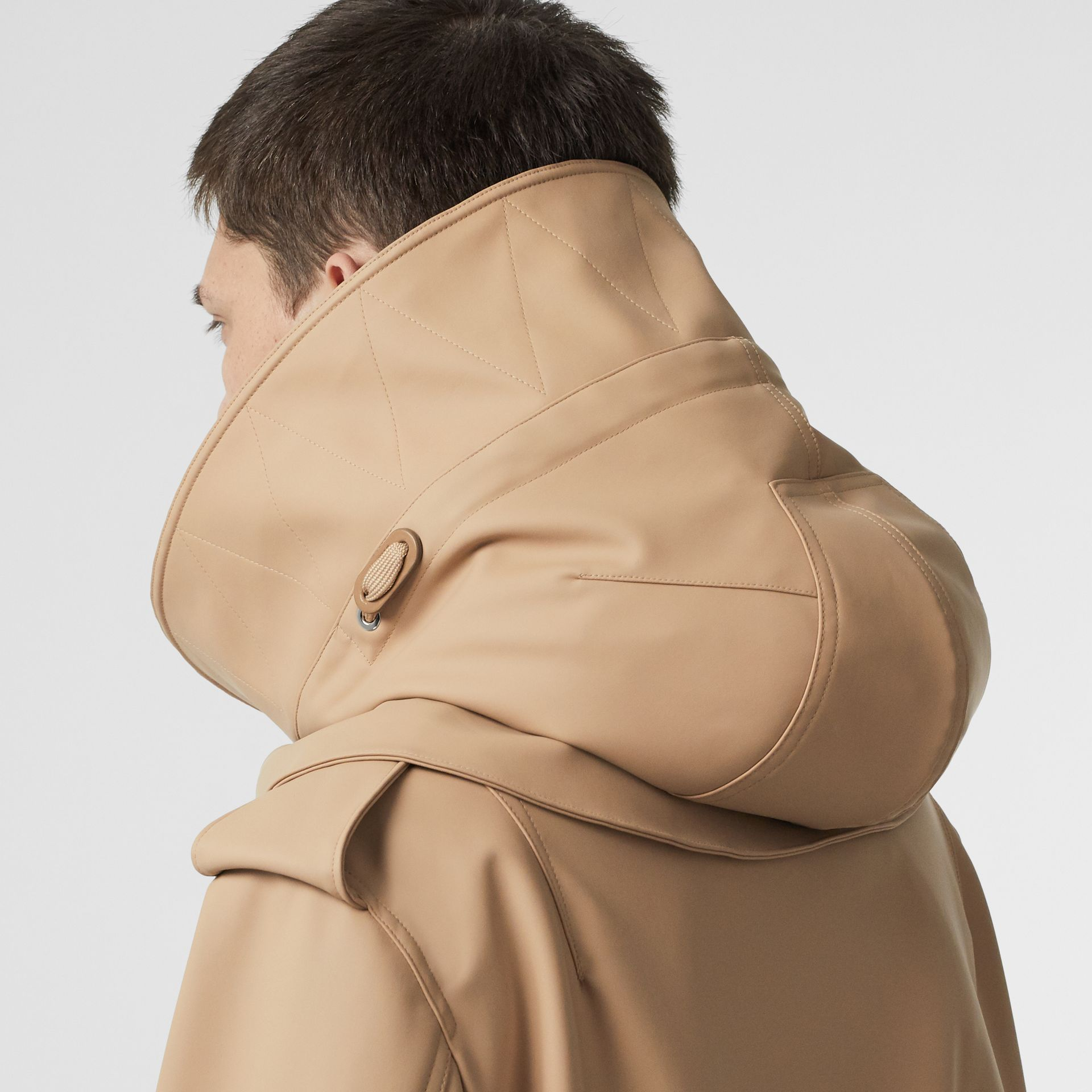 Detachable Hood Rubberised Parka in Honey | Burberry - gallery image 4