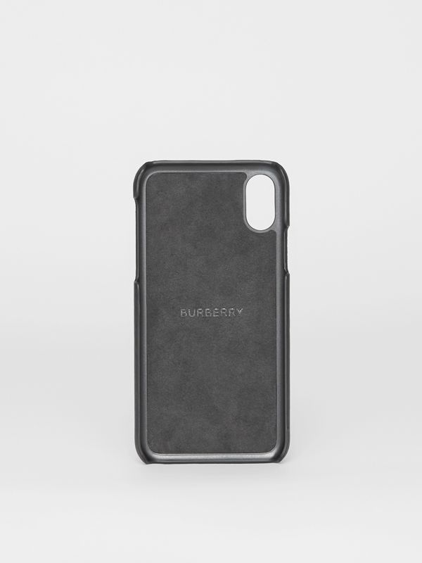 Logo Print Leather iPhone X/XS Case in Black | Burberry United States - cell image 2