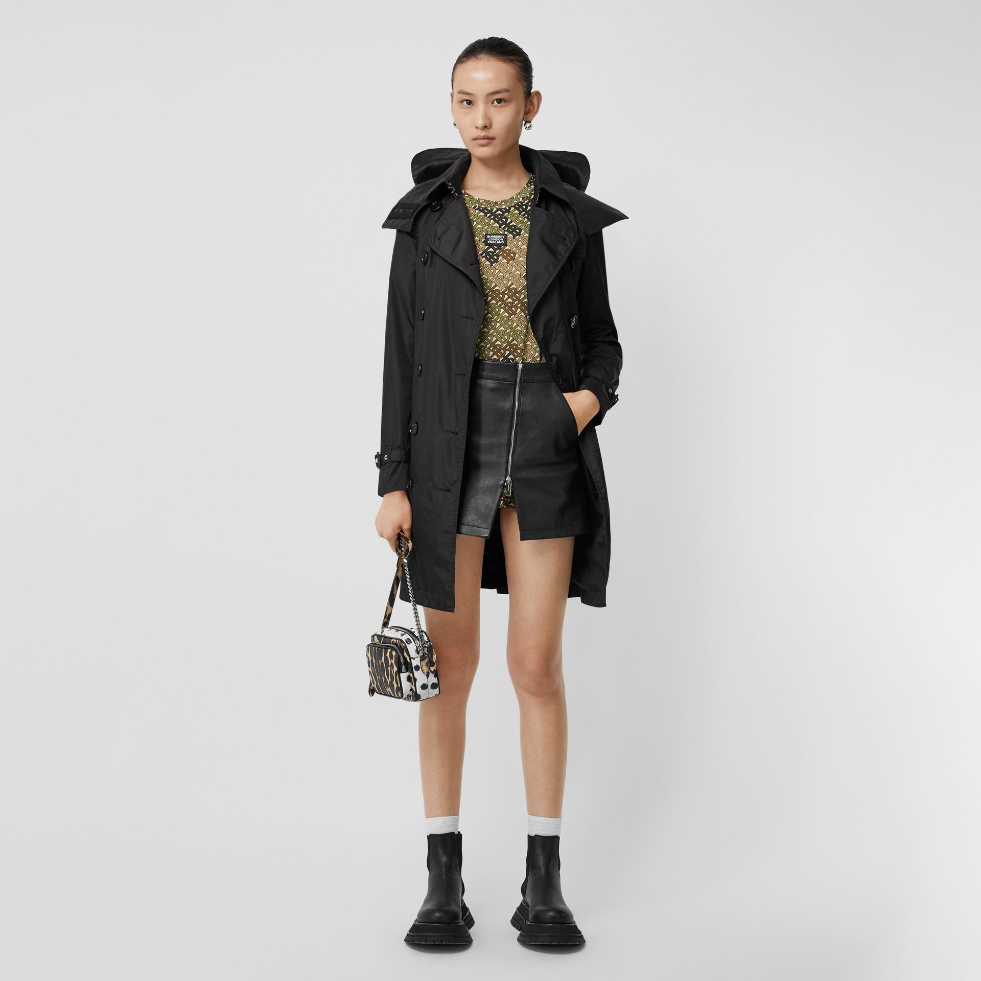 Detachable Hood ECONYL® Trench Coat in Black - Women | Burberry Singapore - gallery image 5