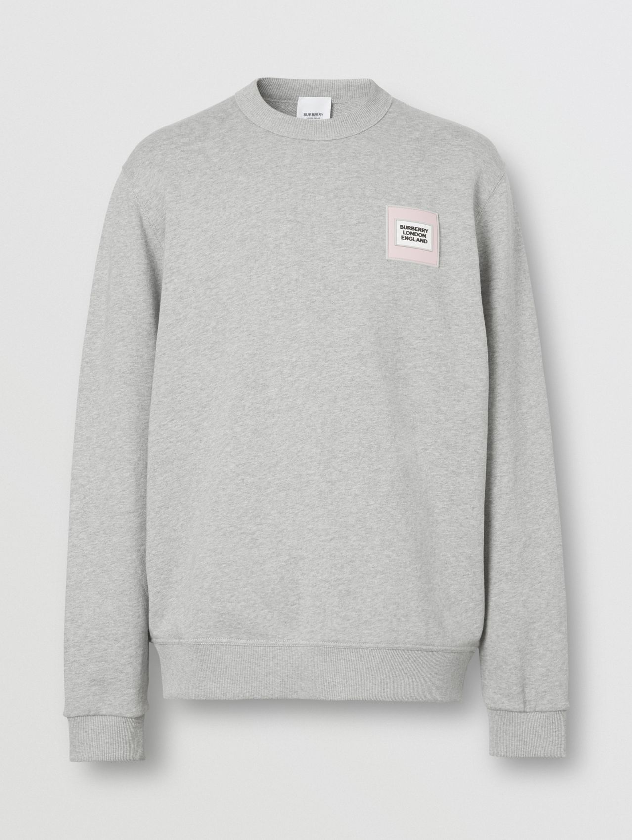 Logo Appliqué Cotton Sweatshirt (Pale Grey Melange)