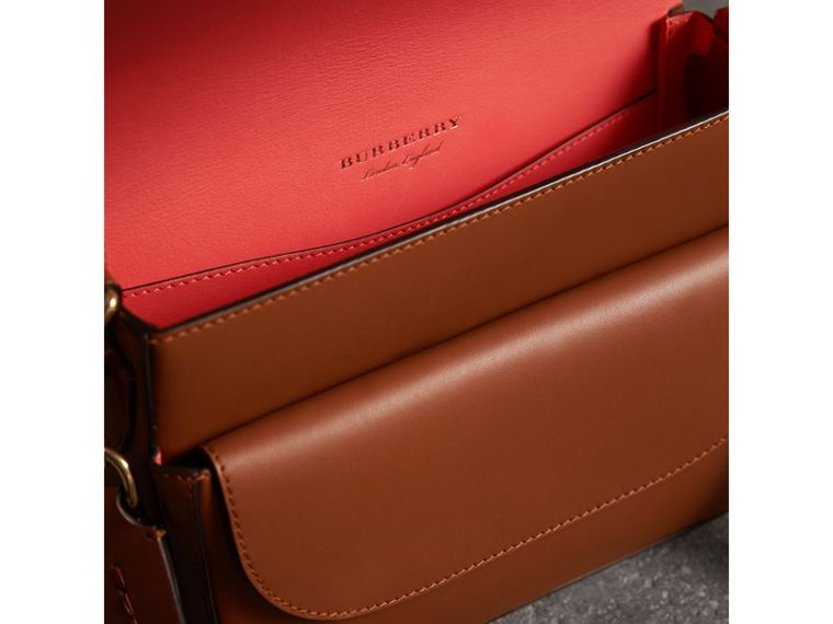 The Square Satchel in Bridle Leather in Tan - Women | Burberry Australia - cell image 4