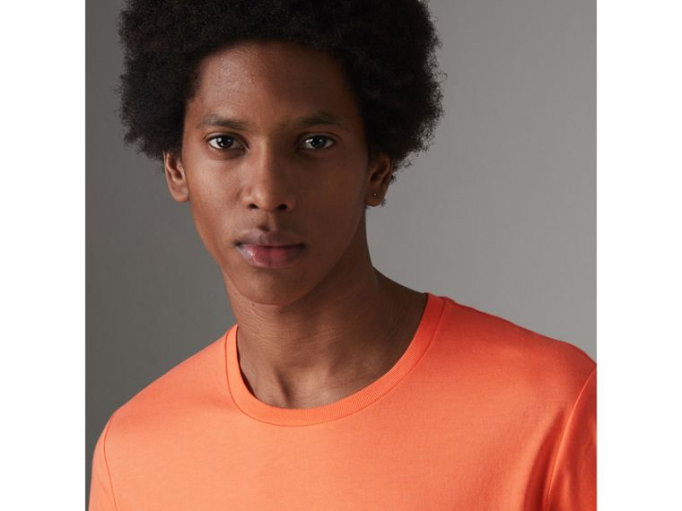 Cotton Jersey T-shirt in Bright Orange - Men | Burberry Australia - cell image 1