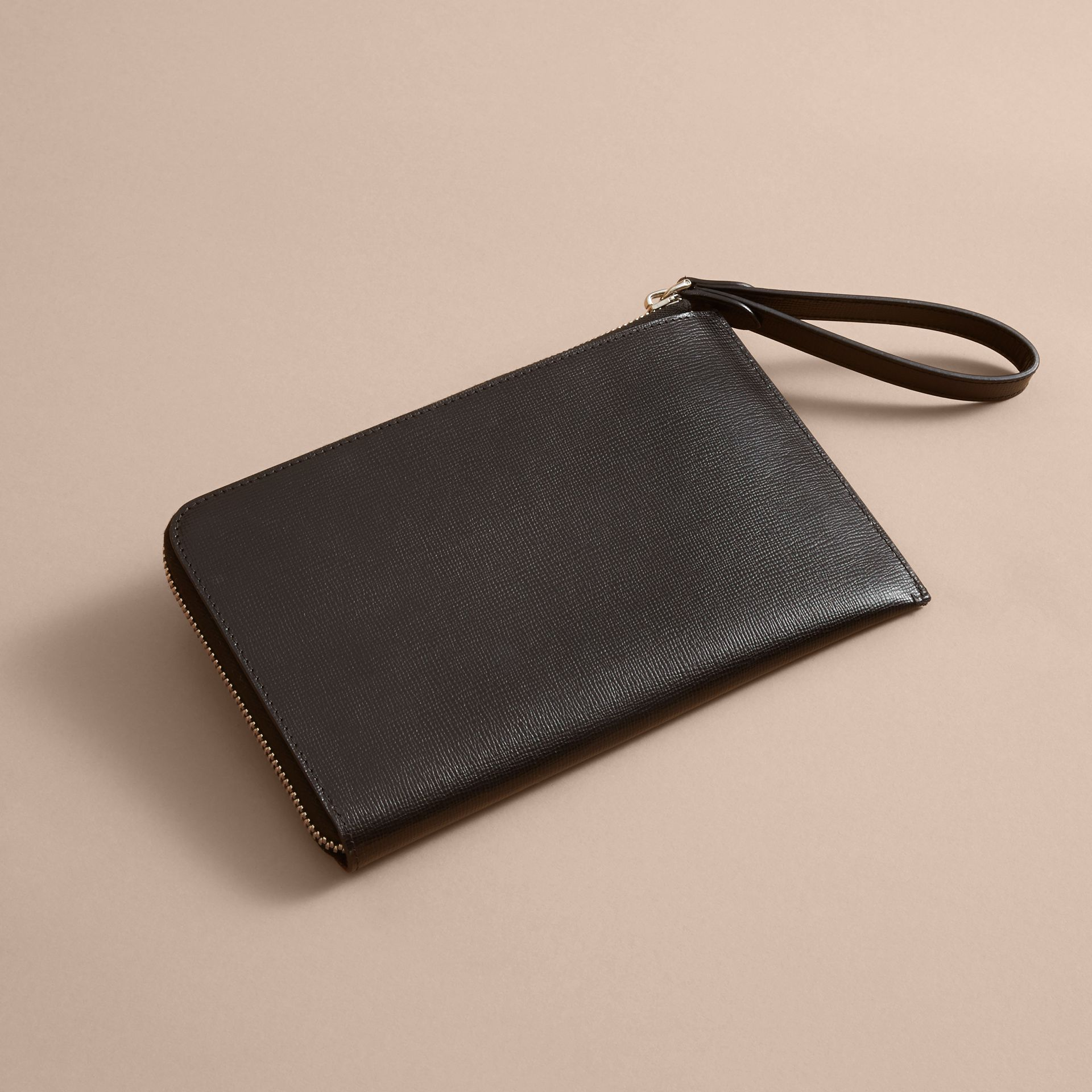 Beasts Motif Leather Travel Wallet - Men | Burberry Singapore - gallery image 3