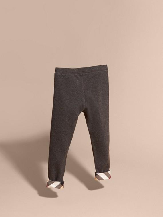 Mid grey melange Stretch Cotton Leggings Mid Grey Melange - cell image 3
