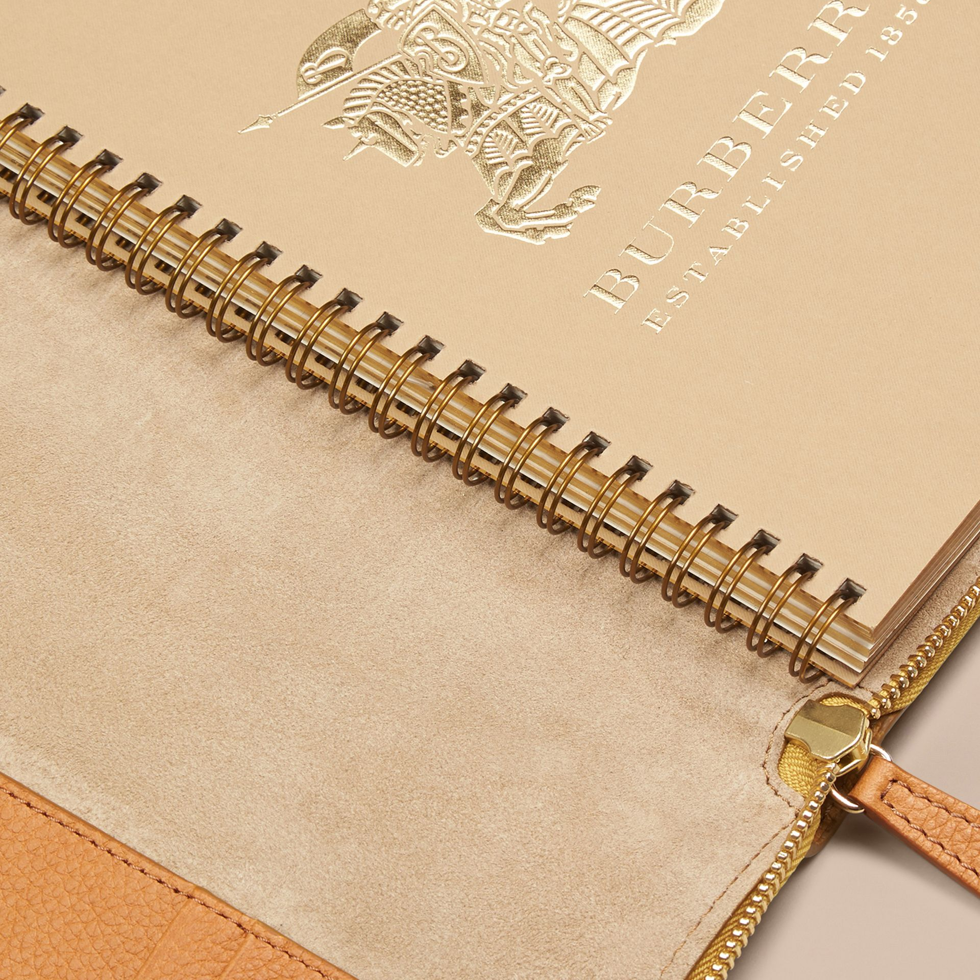 Ziparound Grainy Leather 18 Month 2016/17 A5 Diary in Ochre Yellow | Burberry - gallery image 4
